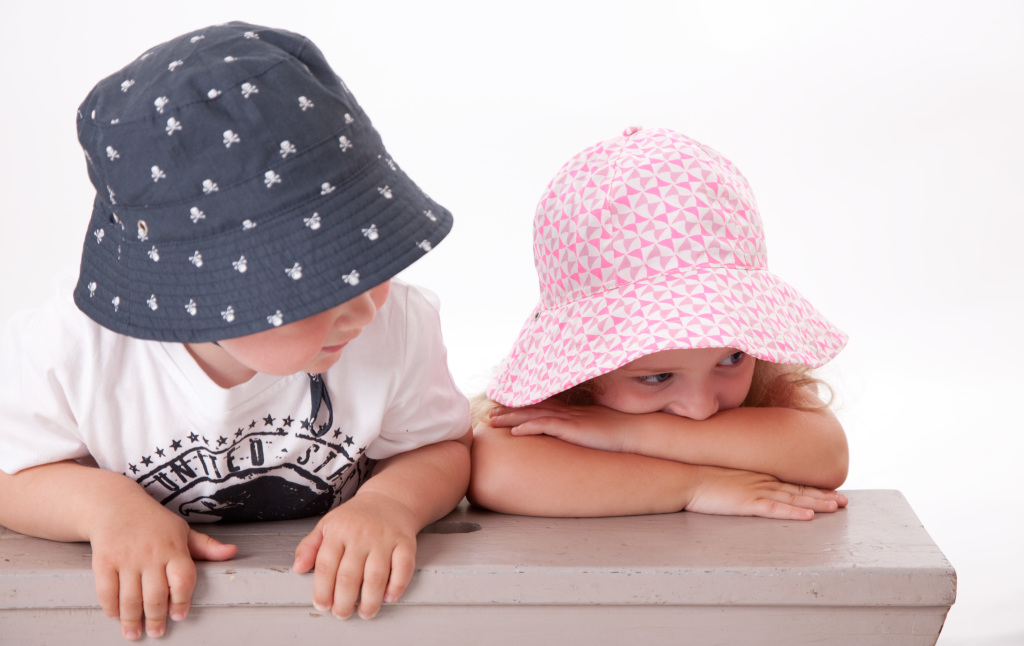 Acorn SS14 Pirate Bucket Hat and Olivia Reversible Sunhat