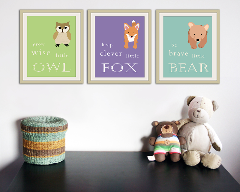 WallFry's woodland animals with quotes