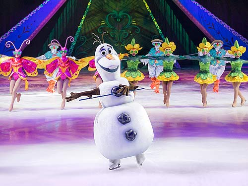 Olaf provides the laughs. PIC: Feld Entertainment