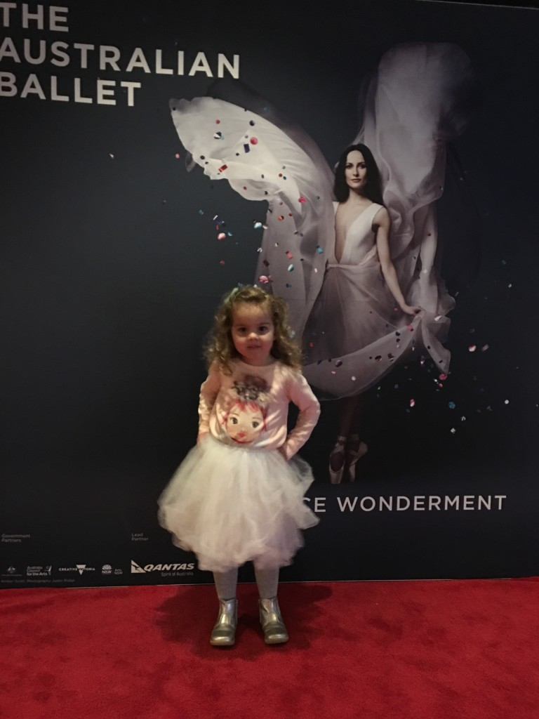 Tutu cute. Millie in the foyer before the show